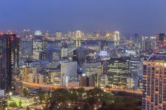 Vista lontana di Odaiba Immagini Stock