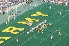 Vista lunga della partita di football americano, accademia militare di West Point, NY Immagini Stock Libere da Diritti