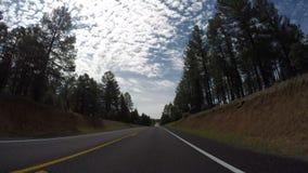 Vista lungimirante al rallentatore di guida di veicoli stock footage