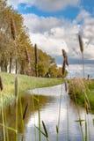 Vista lungo la diga olandese Immagine Stock