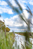 Vista lungo la diga olandese Fotografie Stock