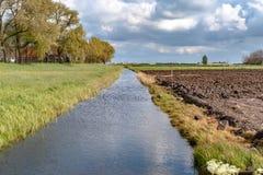 Vista lungo la diga olandese Immagini Stock Libere da Diritti