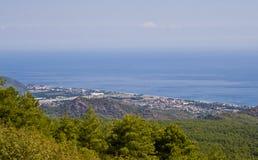 Vista mágica da parte superior da montanha Tahtali Imagem de Stock Royalty Free