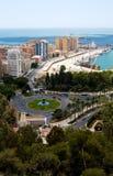 Vista a Málaga Foto de archivo libre de regalías