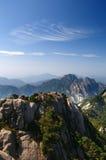 Vista máxima brilhante da montanha de huangshan Fotos de Stock Royalty Free