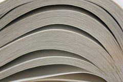 Vista macra de las paginaciones del libro Imagen entonada Copie el espacio para el texto imagen de archivo libre de regalías