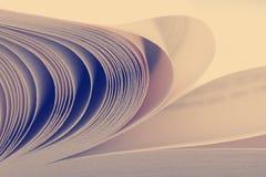 Vista macra de las paginaciones del libro Imagen entonada Copie el espacio para el texto fotos de archivo