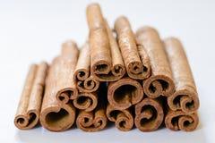 Vista macra del canela marrón en una cocina Fotografía de archivo libre de regalías
