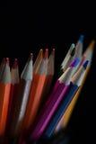 Vista macro de pastéis coloridos Fotografia de Stock
