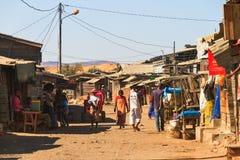 Vista Madagascar della via Fotografia Stock Libera da Diritti