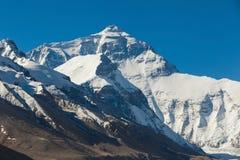 Vista maestosa del fronte del nord di Everest immagini stock libere da diritti