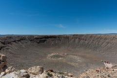 Vista maestosa del Meteor Crater, Arizona del Nord fotografia stock