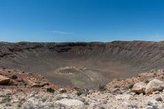 Vista maestosa del Meteor Crater, Arizona del Nord immagini stock libere da diritti