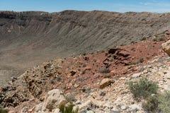 Vista maestosa del Meteor Crater, Arizona del Nord immagine stock