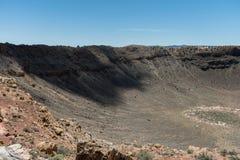 Vista maestosa del Meteor Crater, Arizona del Nord immagini stock