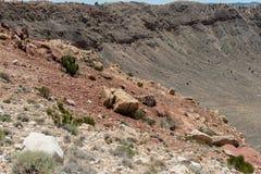 Vista maestosa del Meteor Crater, Arizona del Nord fotografie stock