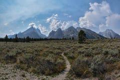 Vista magnífica de Tetons magnífico Foto de archivo libre de regalías