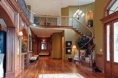 Vista magnífica de una casa de lujo Foto de archivo libre de regalías