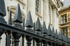 Vista magnífica de una universidad y de una universidad de la élite en Cambridge, Reino Unido Fotografía de archivo