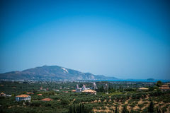 Vista magnifica su Zacinto Fotografia Stock Libera da Diritti
