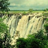 Vista majestosa com Victoria Falls (África do Sul) foto de stock