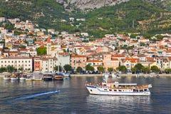 Vista a Makarska, Croatia Fotos de archivo libres de regalías