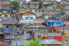Vista-Maksuda gitana búlgara de los tugurios Imagen de archivo libre de regalías