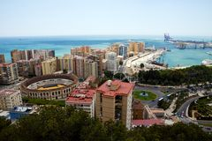 Vista a Malaga Fotografia Stock