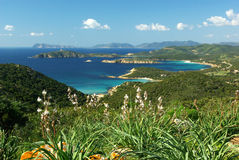 Vista maravilhosa da costa sardinian do sudoeste Imagem de Stock