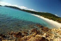 Vista maravilhosa da costa sardinian do sudoeste Fotografia de Stock Royalty Free
