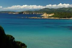 Vista maravilhosa da costa sardinian do sudoeste Imagem de Stock Royalty Free