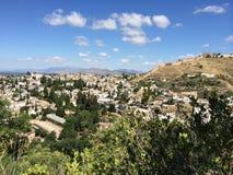 Vista maravillosa de Granada Foto de archivo