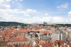 Vista maravillosa a la ciudad de Praga en República Checa Imagen de archivo
