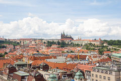 Vista maravillosa a la ciudad de Praga en República Checa Fotografía de archivo libre de regalías
