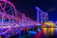 Vista a Marina Bay a Singapore Fotografia Stock Libera da Diritti