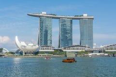 Vista a Marina Bay a Singapore Immagine Stock Libera da Diritti