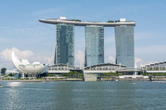 Vista a Marina Bay a Singapore Fotografie Stock Libere da Diritti