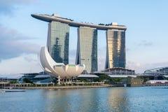 Vista a Marina Bay a Singapore Immagini Stock Libere da Diritti