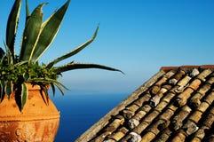Vista mediterranea Immagini Stock
