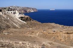 Vista in Megalochori. Immagine Stock Libera da Diritti