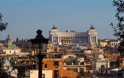 Vista meravigliosa aerea panoramica di Roma con l'altare della patria, Roma, Italia Fotografia Stock Libera da Diritti