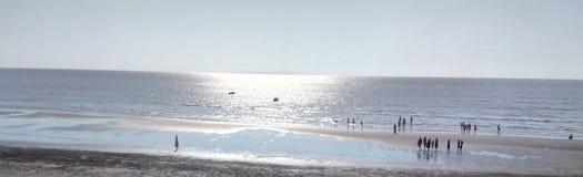 Vista meravigliosa alla spiaggia Dumas, Gujarat, India fotografia stock libera da diritti