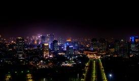 Vista meravigliosa da Monas, Jakarta Indonesia immagini stock