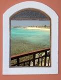 Vista meravigliosa da una finestra immagine stock
