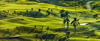 Vista meravigliosa del campo di golf, bogor Indonesia fotografia stock