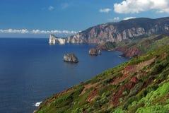 Vista meravigliosa della costa ovest sarda Fotografia Stock
