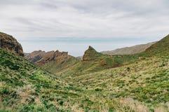 Vista meravigliosa della valle di Masca, Tenerife, Spagna Immagini Stock Libere da Diritti