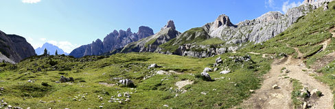 Vista meravigliosa delle dolomia - Trentino Alto Adige sul nazionale Fotografia Stock Libera da Diritti