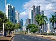 Vista moderna della città Immagini Stock Libere da Diritti