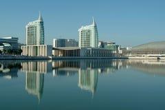 Vista moderna della città Fotografia Stock